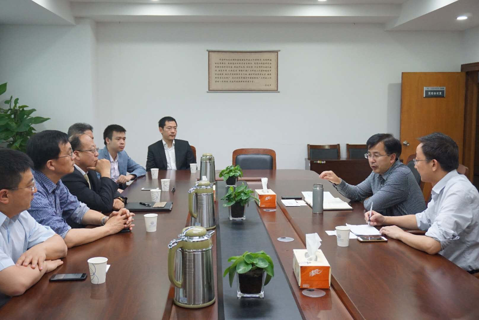 冯少东会见德国华人华侨科技工商协会代表团